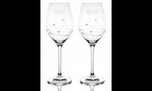 Svadobné poháre Granada + Swarowski kryštály - set 2 x 360 ml