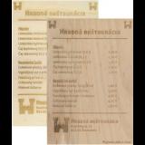 Jedálne lístky z dreva