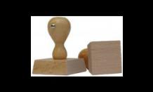 Štvorcová drevená pečiatka 70x70 mm