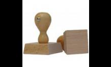 Štvorcová drevená pečiatka 90x90 mm